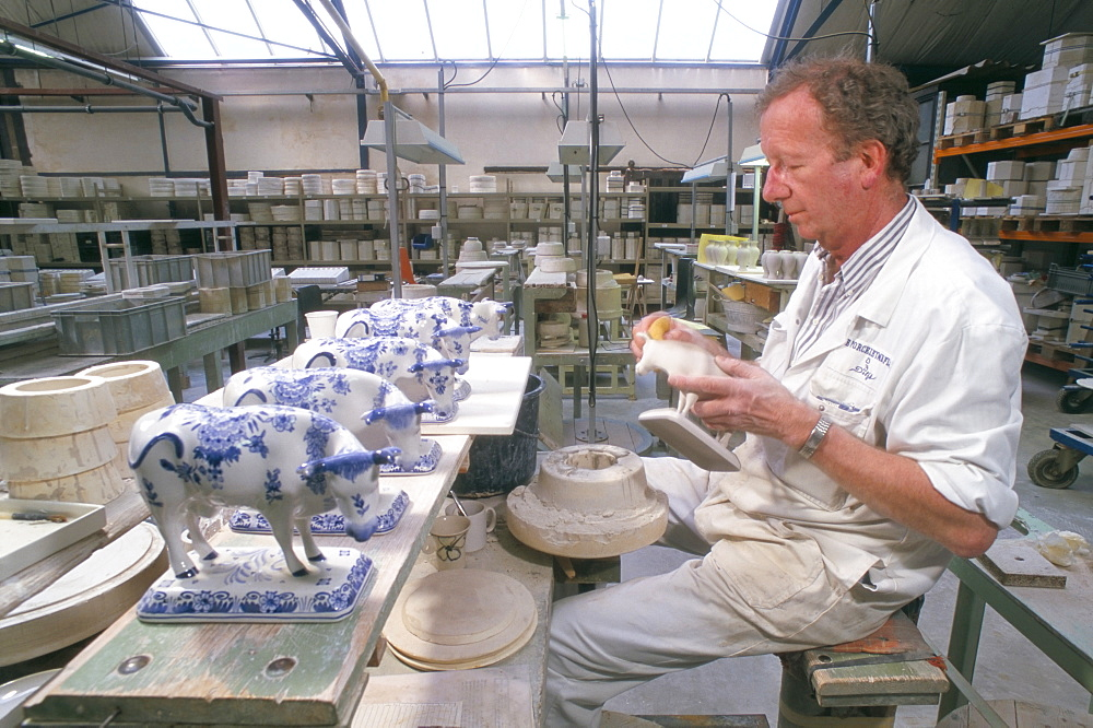 Pottery making, Delft, The Netherlands (Holland), Europe