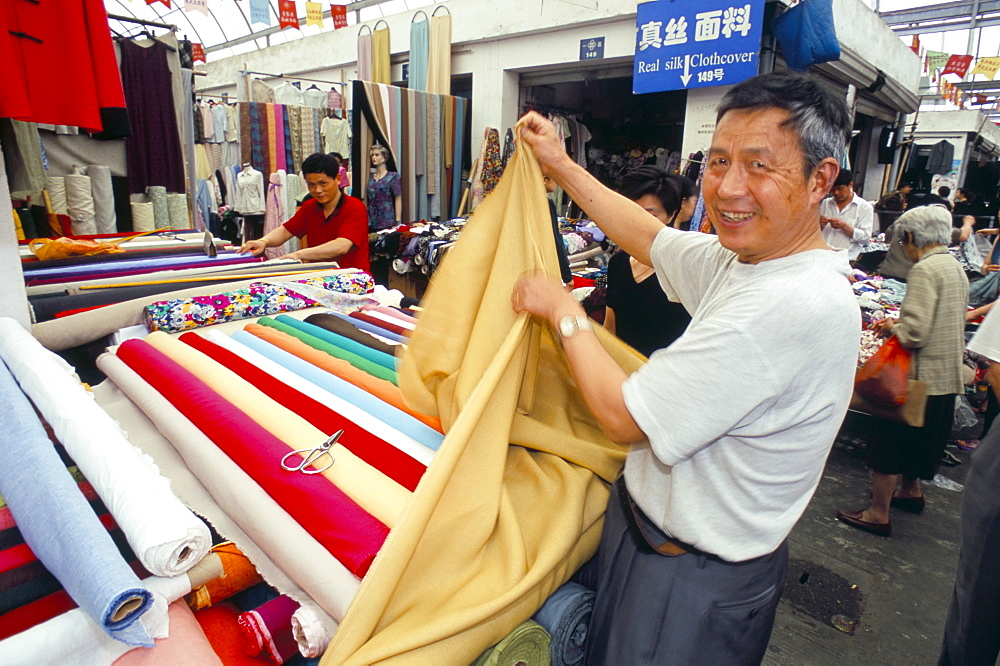 Cloth for sale, Shanghai, China, Asia