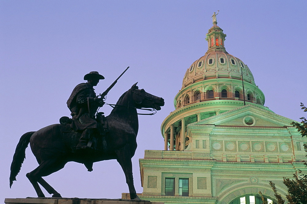 Statue of a Rancher, Capitol Building, Austin, Texas, United States of America, North America