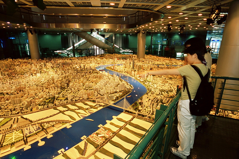 Model of city, Museum for City Planning, Shanghai, China, Asia