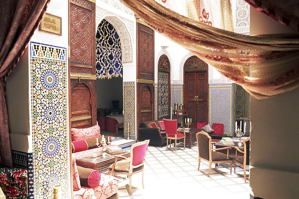 Ryad Blue House hotel, Fez, Morocco, North Africa, Africa