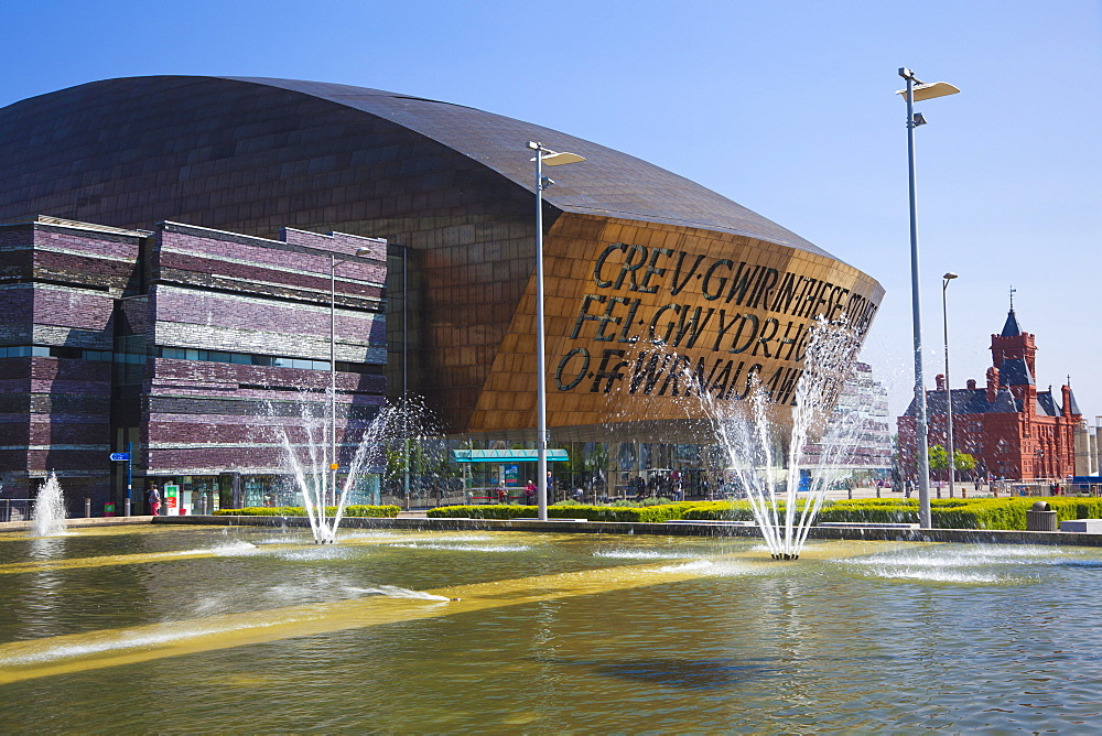 Millennium Centre, Cardiff Bay, Wales, United Kingdom, Europe