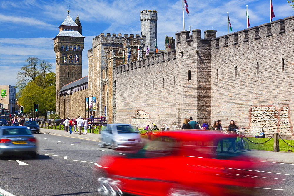 Cardiff Castle, Cardiff, Wales, United Kingdom, Europe