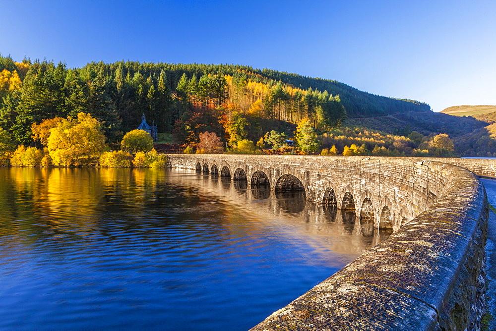 Carreg Ddu Viaduct and Reservoir, Elan Valley, Powys, Mid Wales, United Kingdom, Europe