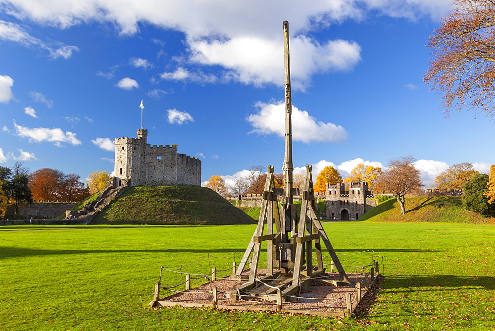 Norman Keep, Cardiff Castle, Cardiff, Wales, United Kingdom, Europe