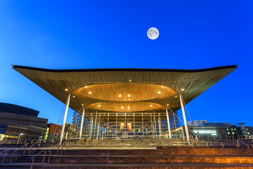 Welsh Assembly (Senedd), Cardiff Bay, Wales, United Kingdom, Europe