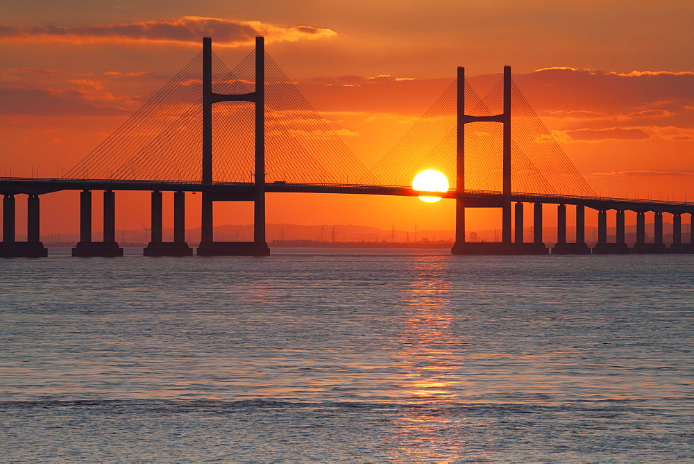 Second Severn Crossing Bridge over the River Severn, southeast Wales, Wales, United Kingdom, Europe