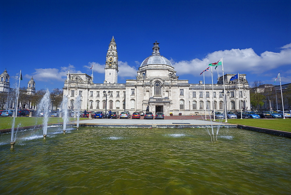 City Hall, Cardiff, Wales, United Kingdom, Europe
