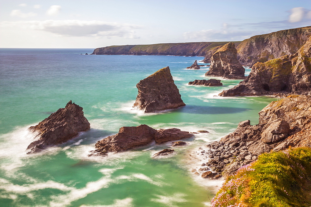 Bedruthan Steps, Newquay, Cornwall, England, United Kingdom, Europe - 696-775