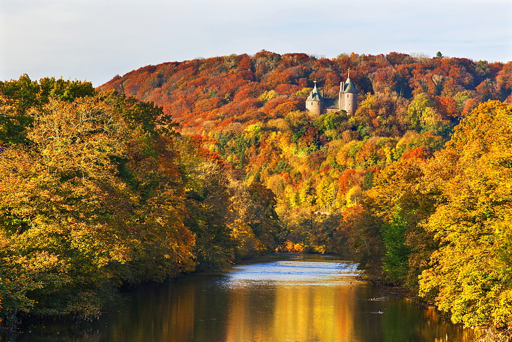 Castle Coch (Castell Coch) (The Red Castle) in autumn, Tongwynlais, Cardiff, Wales, United Kingdom, Europe - 696-826