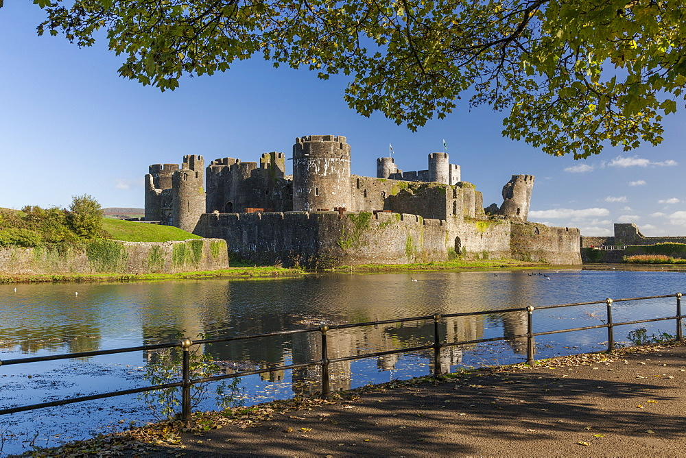 Caerphilly Castle, Cardiff, Wales, United Kingdom, Europe