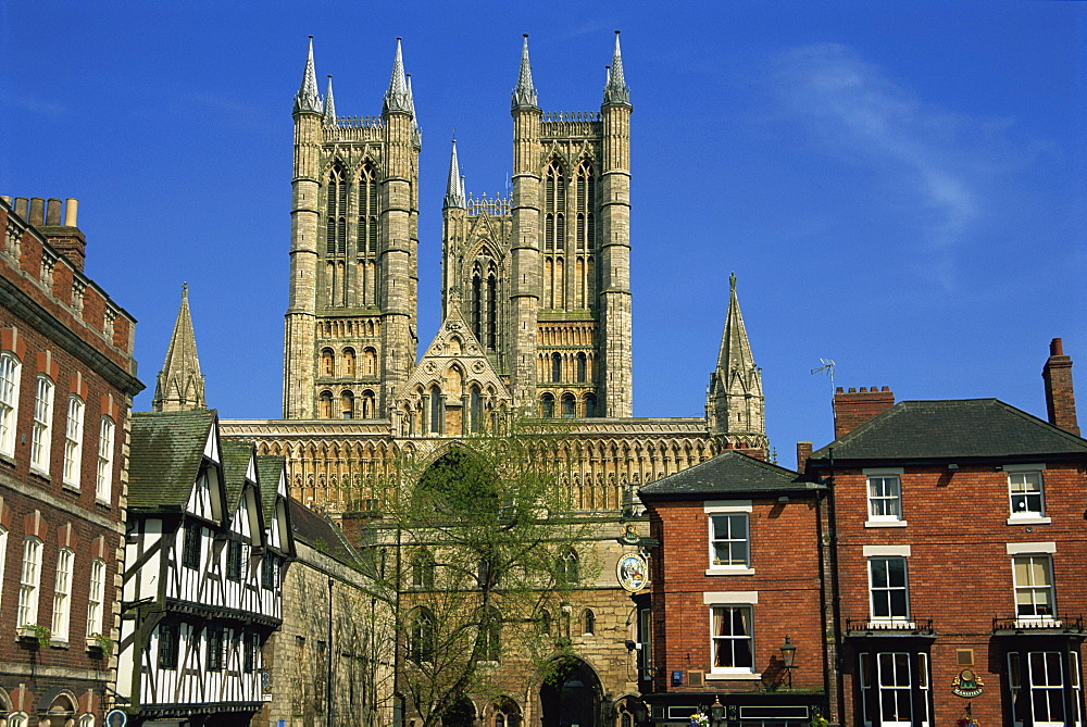 Lincoln Cathedral, Lincoln, Lincolnshire, England, United Kingdom, Europe