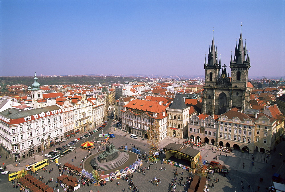 Old Town Square and church of Our Lady before Tyn, Prague, UNESCO World Heritage Site, Czech Republic, Europe