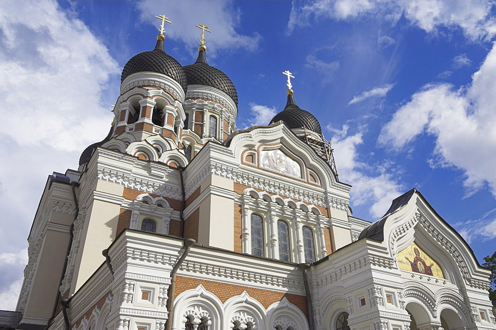Alexander Nevsky Cathedral, Russian Orthodox church, Toompea Hill, Tallinn, Estonia, Baltic States, Europe
