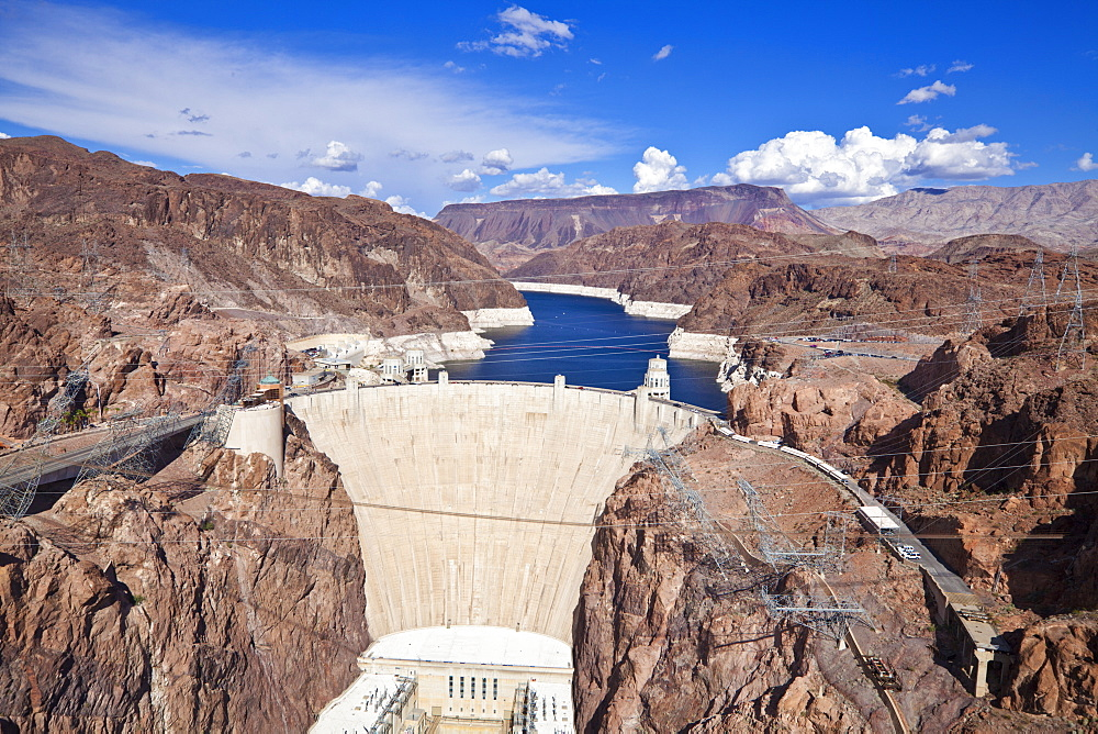 Hoover Dam, Lake Mead Reservoir, Boulder City, Nevada, United States of America, North America