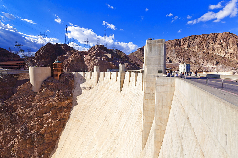 Hoover Dam wall, Boulder City, Nevada, United States of America, North America