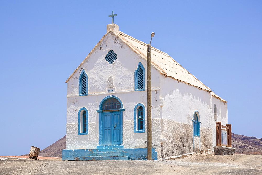 Capela de Nossa Senhora da Piedade (Lady Compassion Chapel), Pedra De Lume, Pedra di Lumi, Sal Island, Cape Verde, Atlantic, Africa