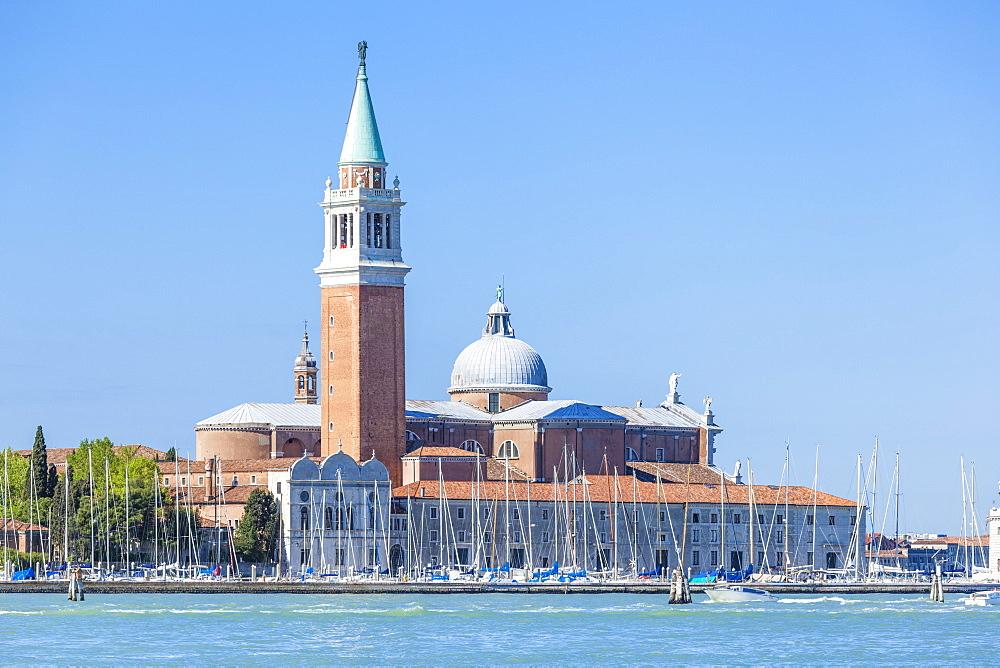 Campanile tower and Church of San Giorgio Maggiore by Palladio, island of San Giorgio Maggiore, Venice, UNESCO World Heritage Site, Veneto, Italy, Europe - 698-3228