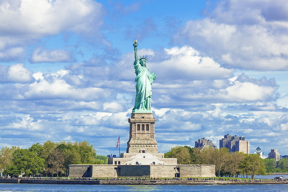 The Statue of Liberty, liberty Island, built by Gustave Eiffel, New York City, United States of America, North America, USA