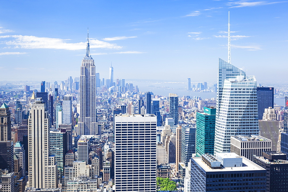Manhattan skyline, New York skyline, Empire State Building, New York City, United States of America, North America - 698-3275