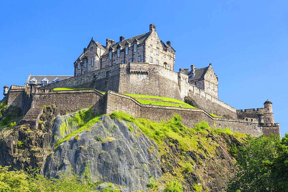 Edinburgh Castle, historic fortress, UNESCO World Heritage Site, Castle Rock, Castlehill, Edinburgh Old Town, Midlothian, Scotland, United Kingdom, Europe