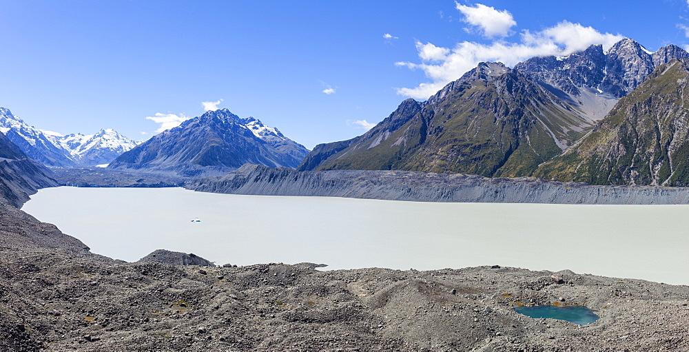 Tasman glacier, Tasman Glacier Lake, Burnett Mountains, Mount Cook National Park, South Island, New Zealand, NZ