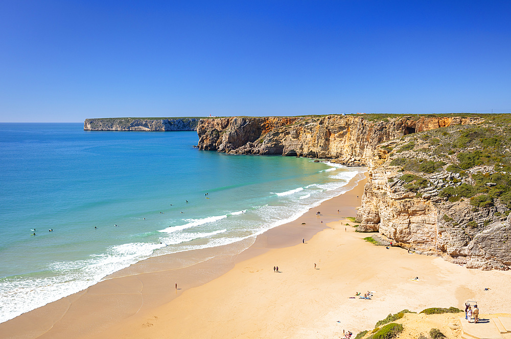 Beliche beach (Praia do Beliche), Sagres, Algarve, Portugal, Europe