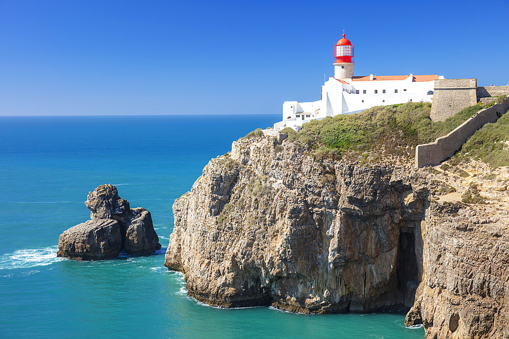 Cape St Vincent Lighthouse West Algarve Coast Cape St Vincent Sagres Portugal Algarve Portugal EU Europe