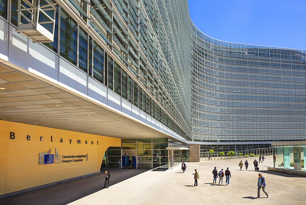European Commission headquarters building, EU Berlaymont Building, Brussels, Belgium, Europe