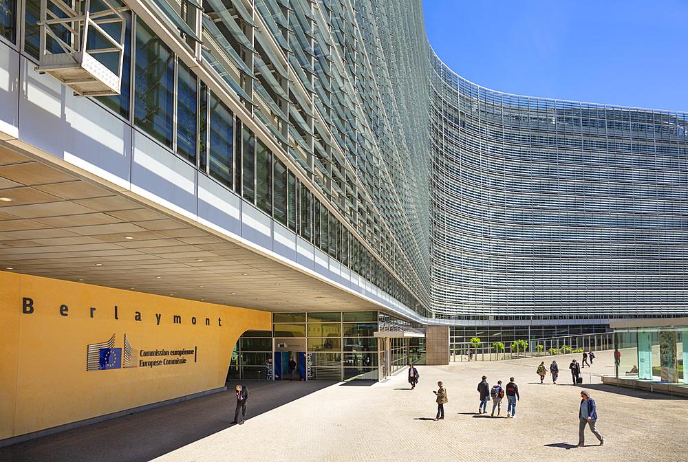 European Commission headquarters building, EU Berlaymont Building, Brussels, Belgium, Europe - 698-3393