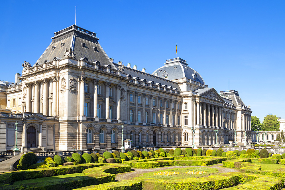 Palais Royale (Brussels Royal Palace), Place des Palais, Rue Brederode, Brussels, Belgium, Europe
