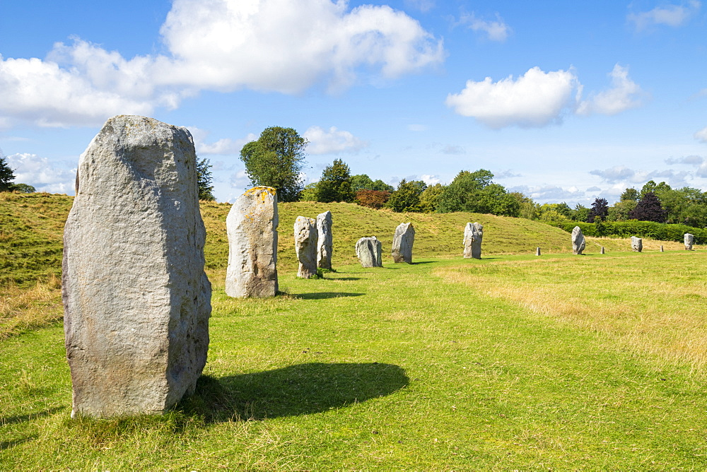 Standing stones at Avebury stone circle, Neolithic stone circle, UNESCO World Heritage Site, Avebury, Wiltshire, England, United Kingdom, Europe