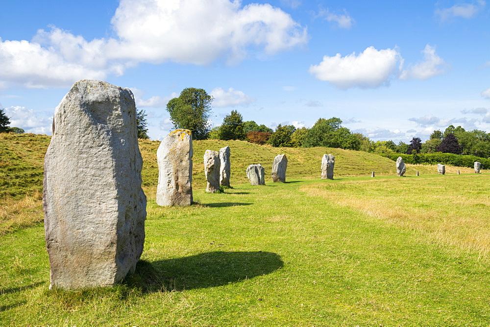 Standing stones at Avebury stone circle, Neolithic stone circle, UNESCO World Heritage Site, Avebury, Wiltshire, England, United Kingdom, Europe - 698-3446
