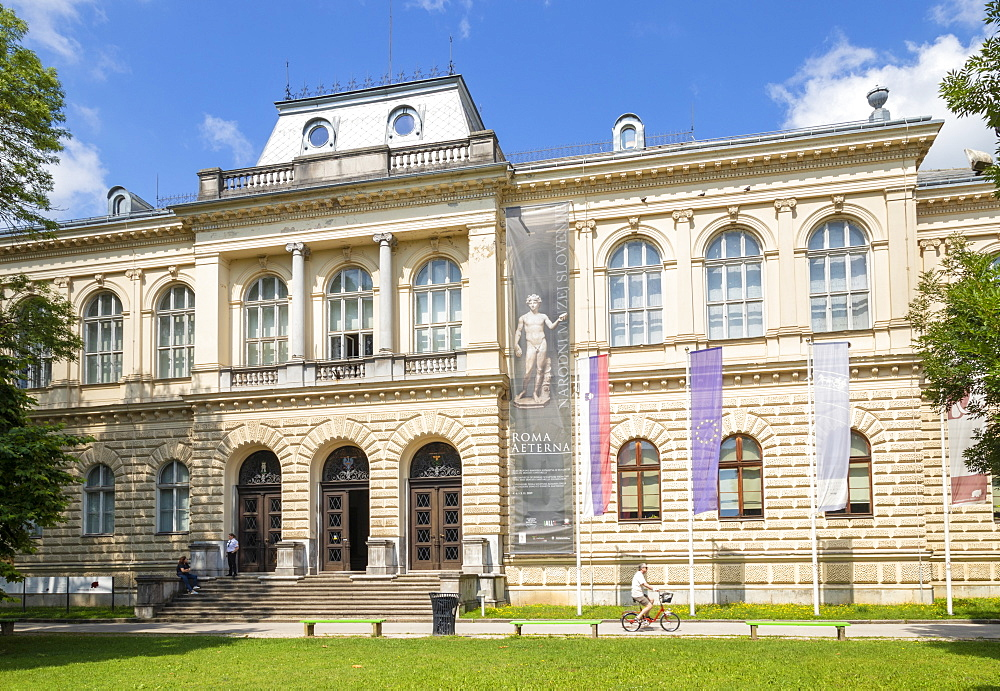 Slovenian Museum of Natural History and the National Museum of Slovenia, front entrance, Ljubljana, Slovenia, Europe - 698-3477