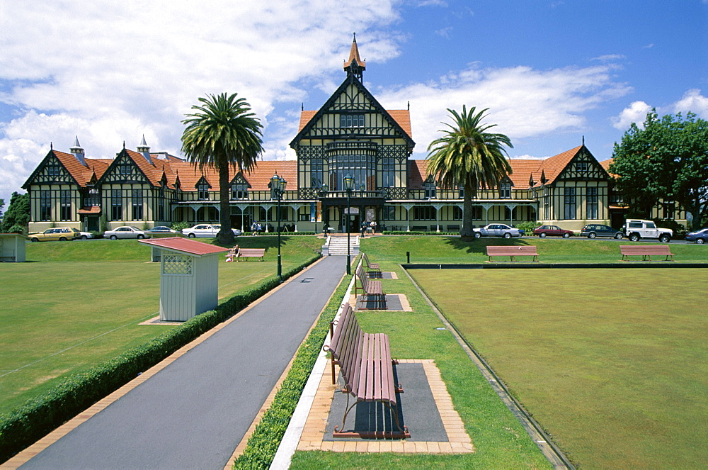 Bath house and Museum, Rotorua, South Auckland, North Island, New Zealand, Pacific