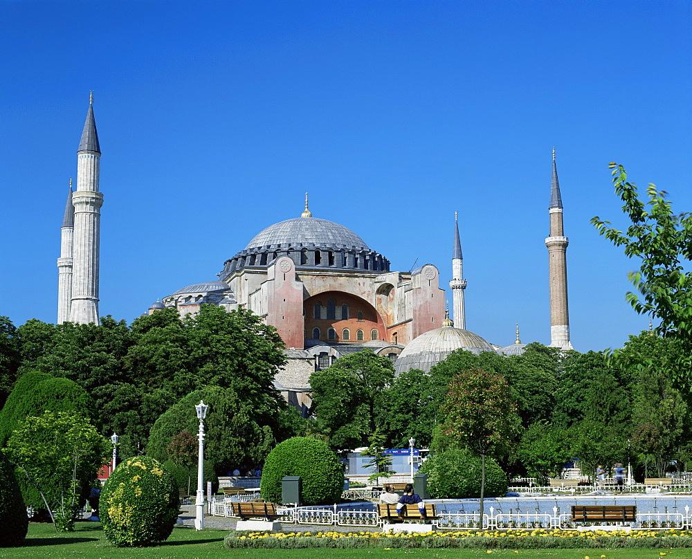 St. Sophia Mosque, UNESCO World Heritage Site, Istanbul, Turkey, Europe - 699-134