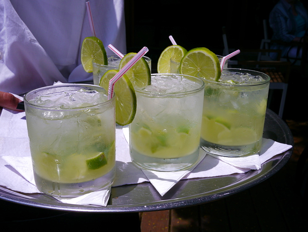 Glasses of Caipirinha, Minas Gerais, Brazil, South America - 700-13877