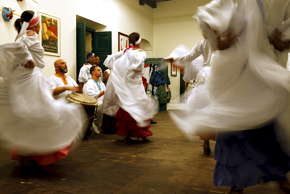 Escuela de Bomba y Plena Dona Brenes in the old town, where traditional dances can be learned, San Juan, Puerto Rico, West Indies, Caribbean, Central America - 700-13925