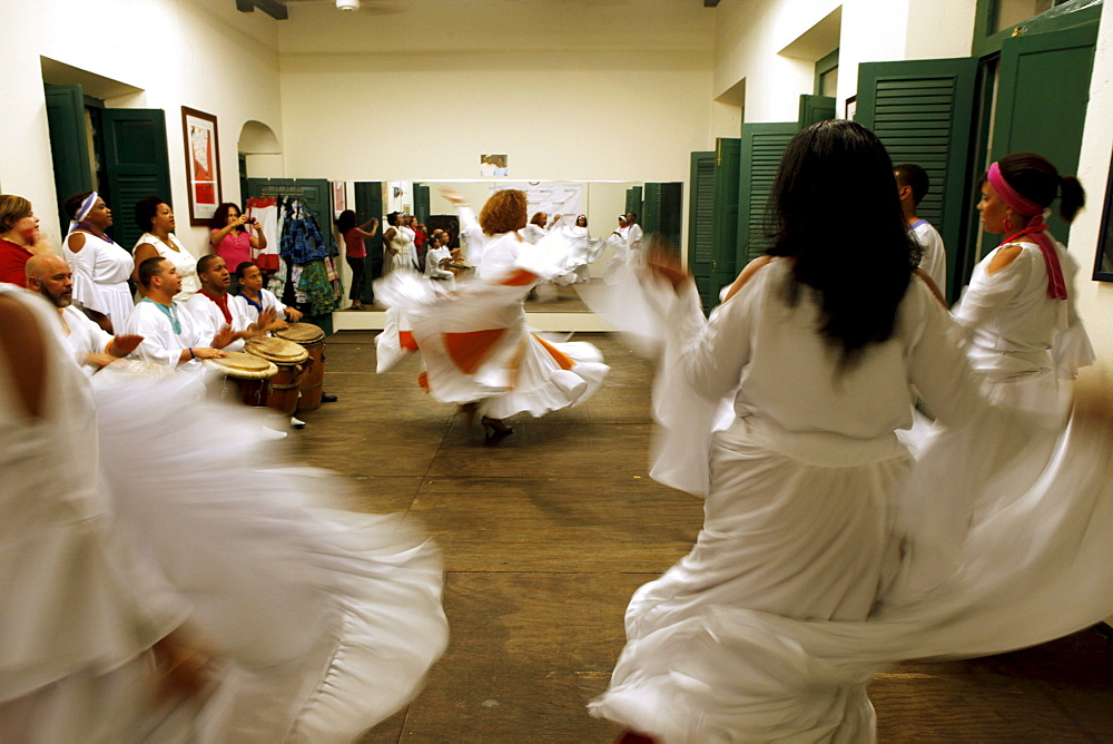Escuela de Bomba y Plena Dona Brenes in the old town, where traditional dances can be learned, San Juan, Puerto Rico, West Indies, Caribbean, Central America - 700-13926
