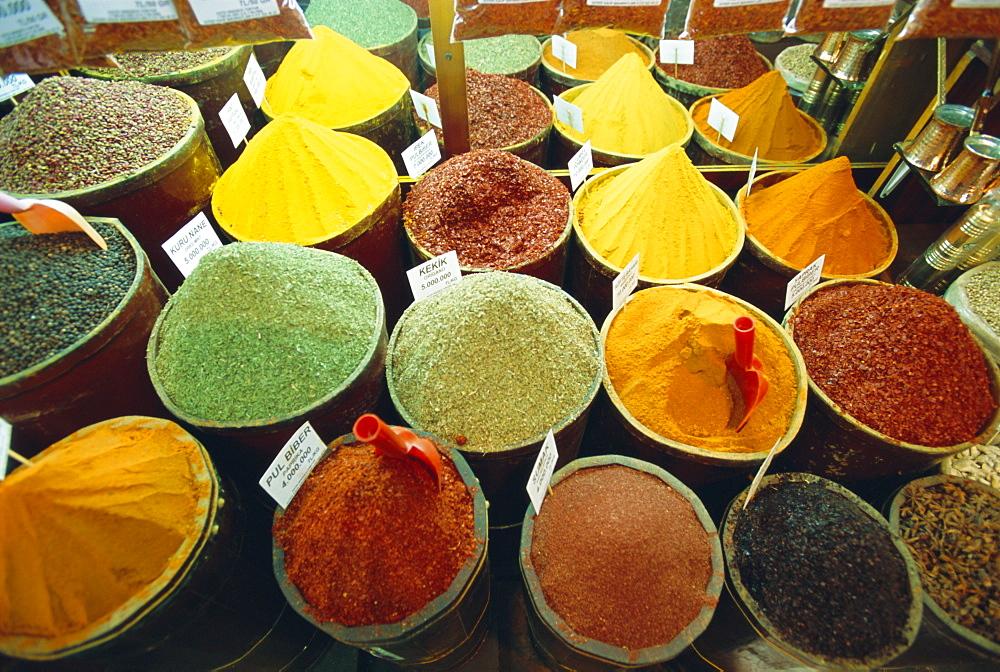 Spices, Grand Bazaar, Istanbul, Turkey, Eurasia - 700-2929