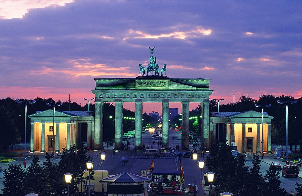 The Brandenburg Gate at dusk, Berlin