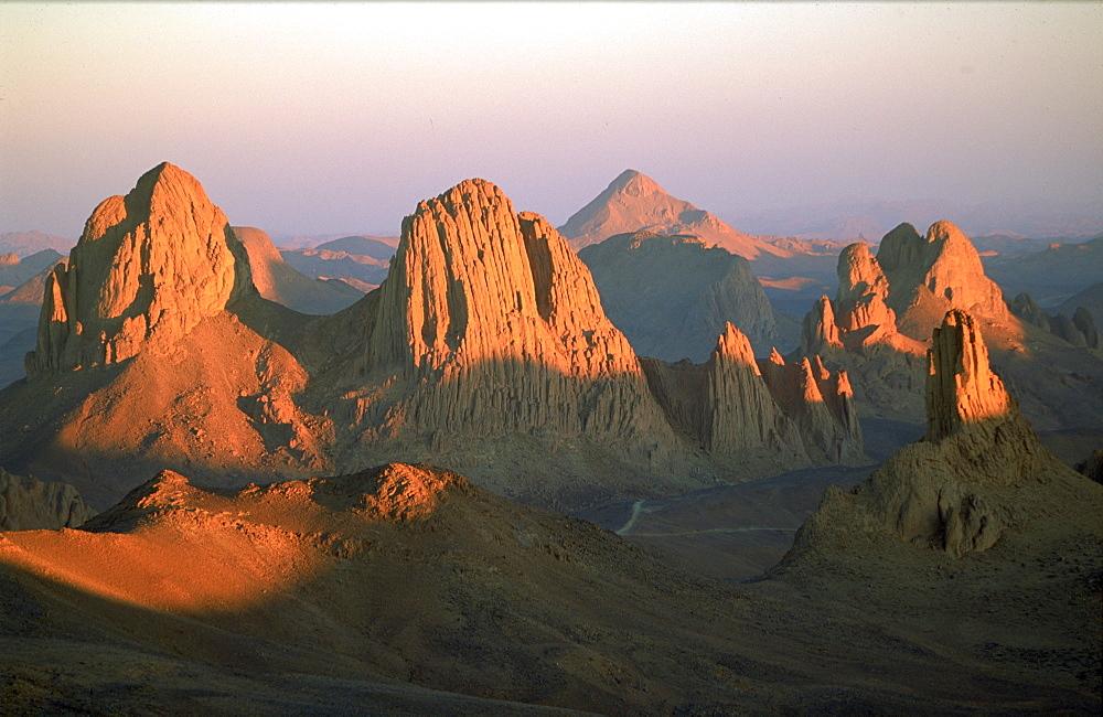 The Iassekrem Peaks at dusk, Hoggar Mountains