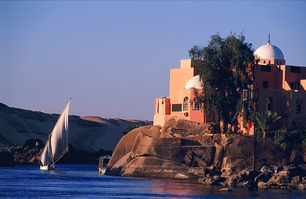 Felucca on the Nile at Aswan, Egypt, Africa