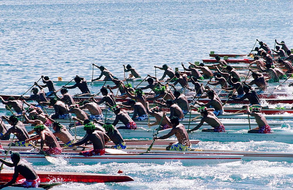 Traditional Pirogue race, Tahiti