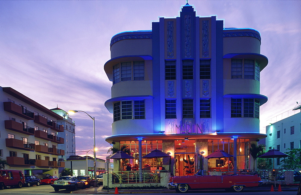 The Marlin Hotel, Ocean Drive, Art Deco District, Miami Beach (South Beach), Miami, Florida, USA