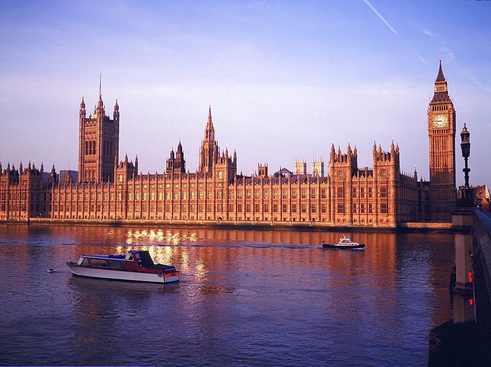 The Houses of Parliament and Thames, London