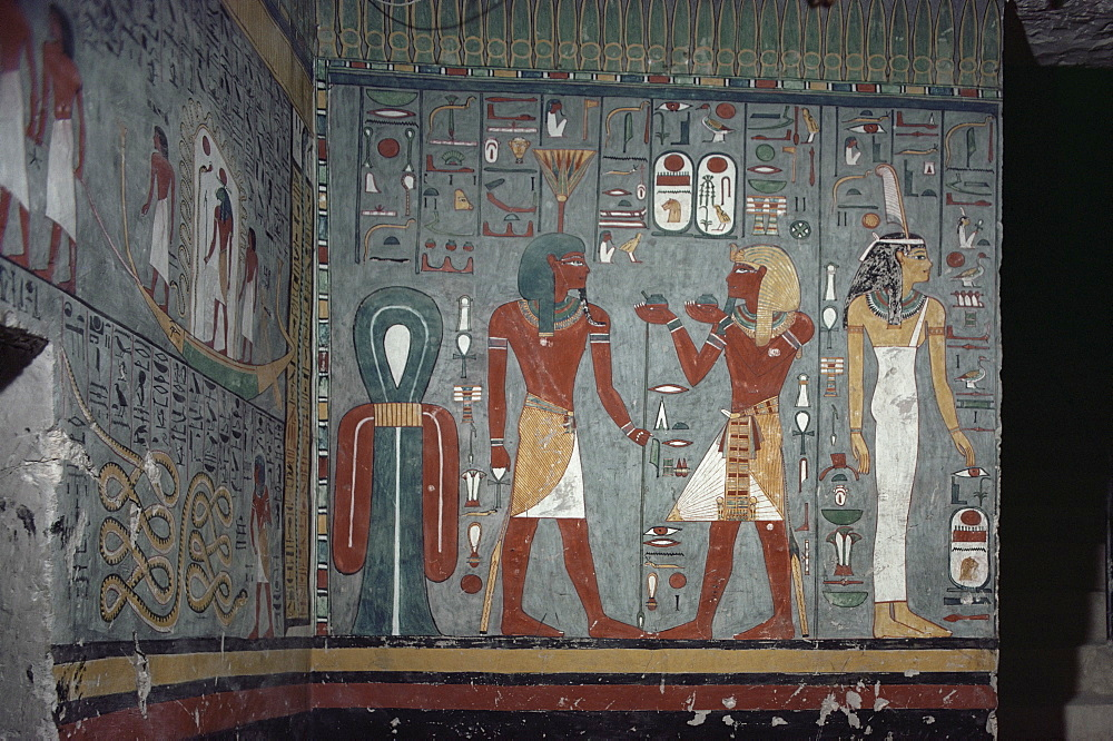 Interior, tomb of Ramses I, Valley of the Kings, Thebes, UNESCO World Heritage Site, Egypt, North Africa, Africa