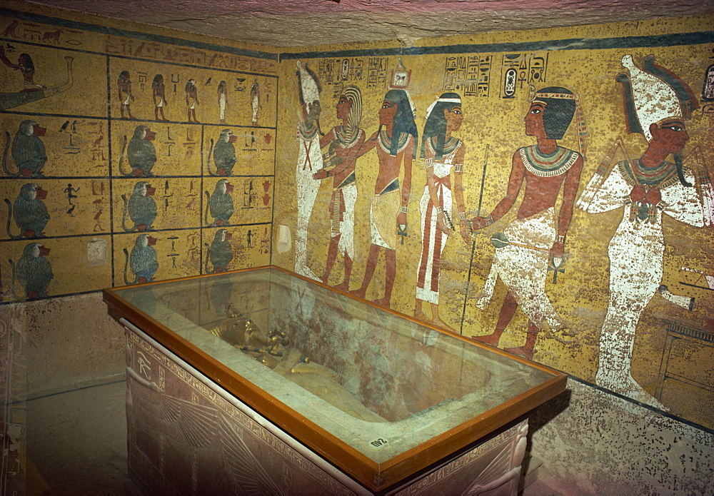 Theban tomb of Tutankhamun, Valley of the Kings, UNESCO World Heritage Site, Egypt, North Africa, Africa
