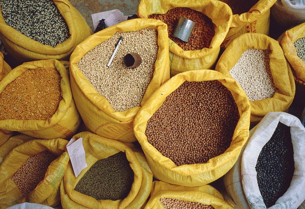 Spices for sale, Kathmandu, Kathmandu Valley, Nepal, Asia