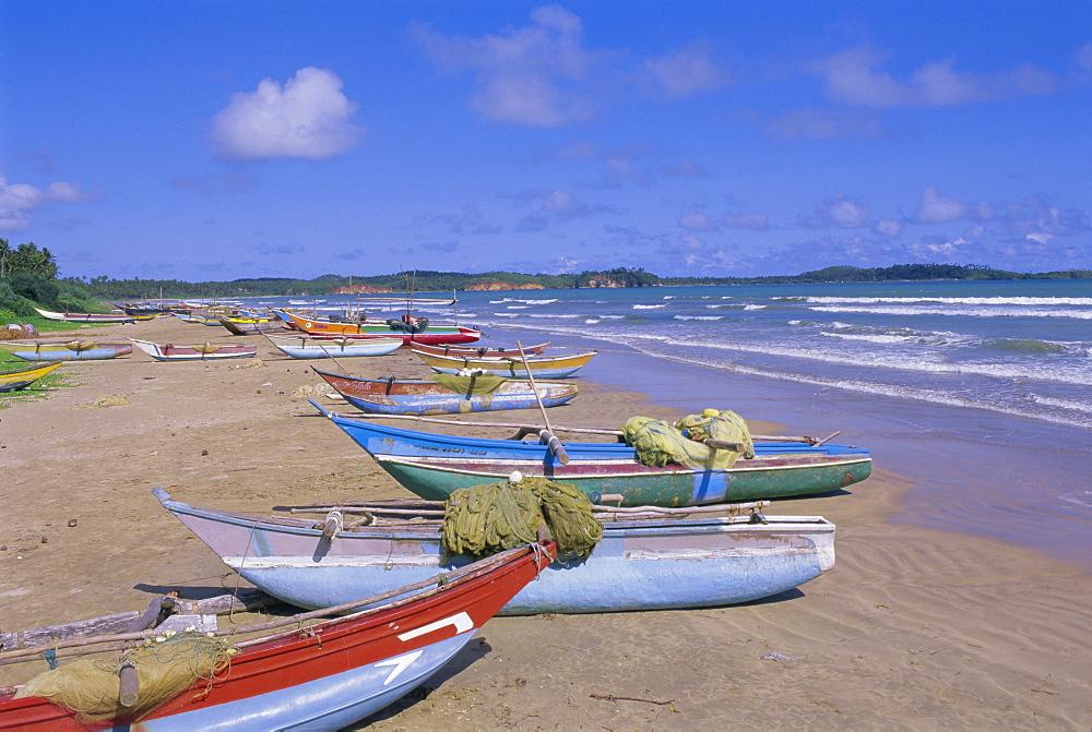 Beach at Tangalla, south coast, Sri Lanka, Indian Ocean, Asia